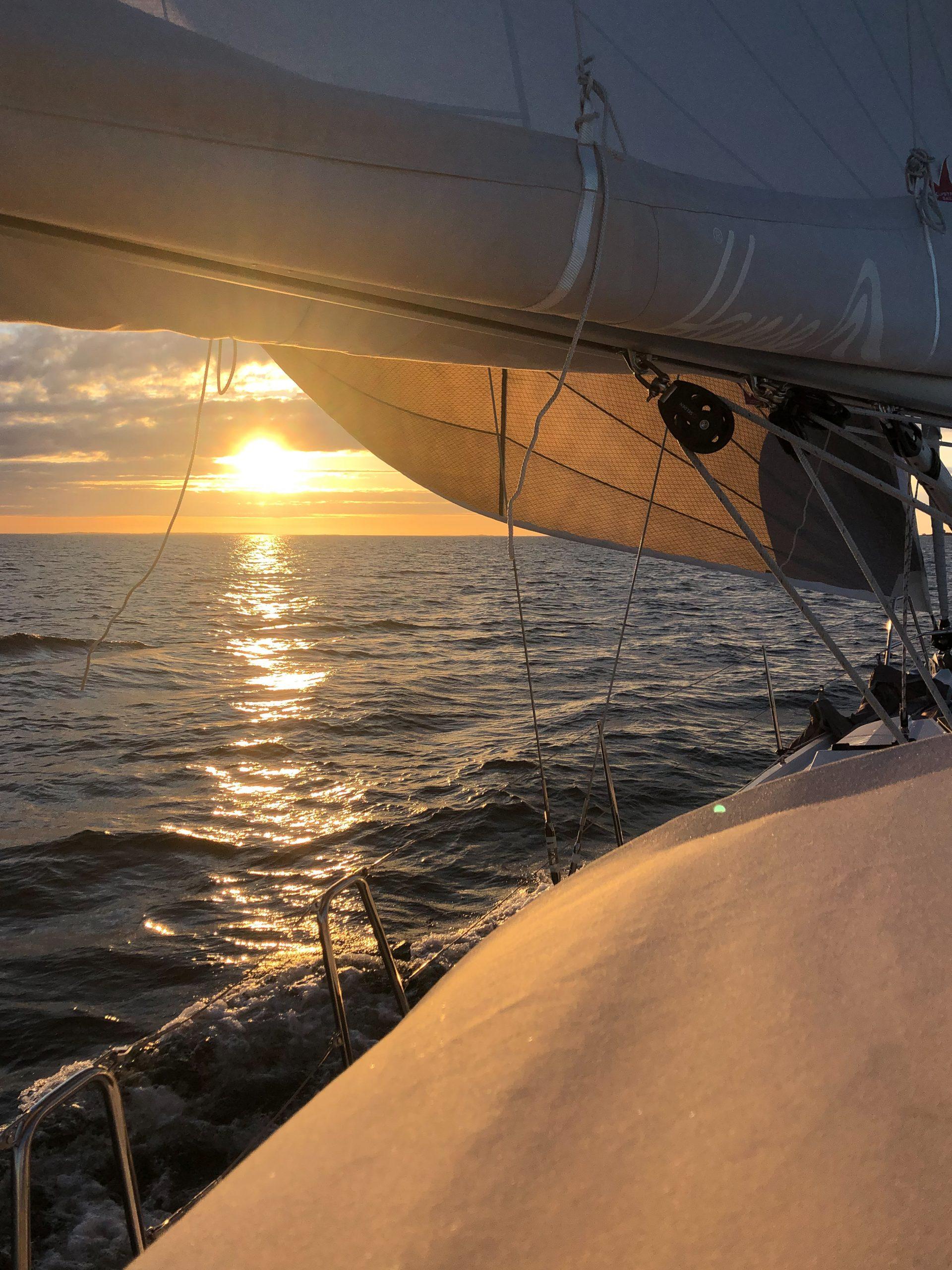 Hanse 388 s/y Charlotte broad reaching.