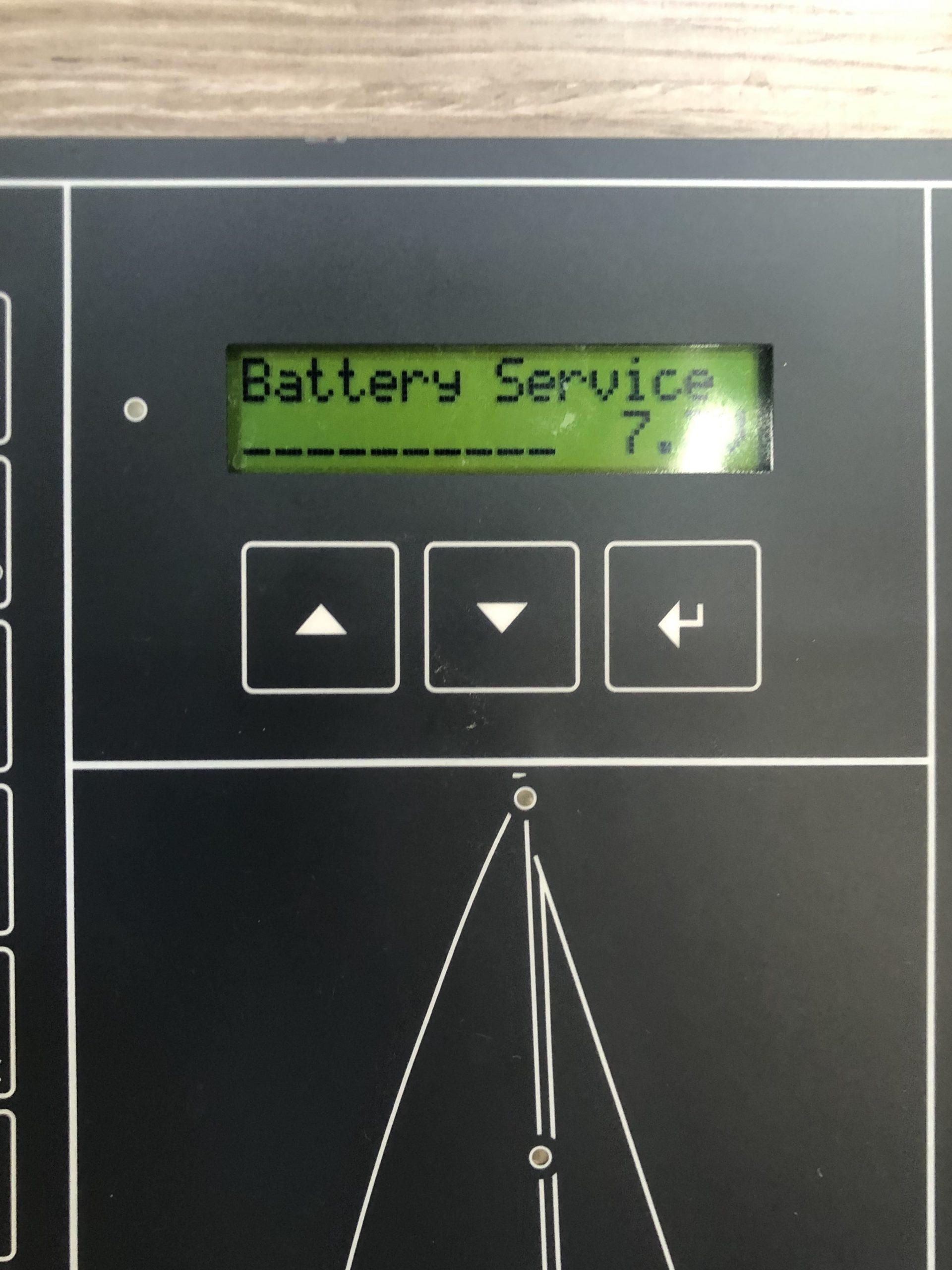 Battery service 7.3V