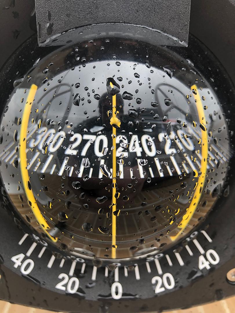 SILVA compass on s/y Charlotte Hanse 388